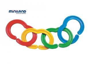 Óriás láncfűző (Miniland, 31711, 60 db-os műanyag építőjáték, 1,5-5 év)