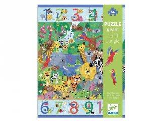 Óriás megfigyelő puzzle A dzsungelben 1-10-ig, Djeco 54 db-os kirakó - 7148 (5-8 év)