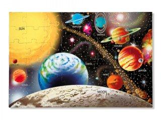 Óriás, padló puzzle: Bolygók (Melissa & Doug, solar system, 48 db-os óriás puzzle, 3-8 év)
