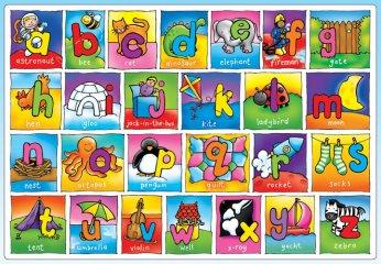 Óriás puzzle, ABC (Orchard, OR282, 26 db-os puzzle, 3-6 év)