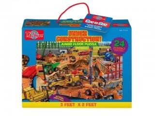 Óriás puzzle: Építkezés (TS, 24 db-os nagyméretű puzzle, 3-5 év)