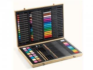 Óriási rajzkészlet díszdobozban (Djeco, 9750, minőségi kreatív játék, 5-99 év)