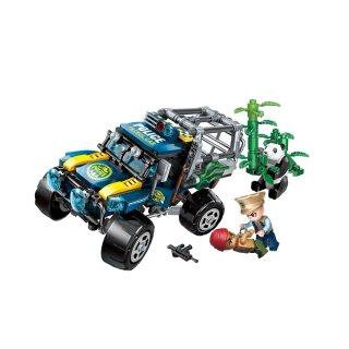 Óriáspanda megmentése, Lego kompatibilis építőjáték készlet (QMAN, 1920, 6-12 év)