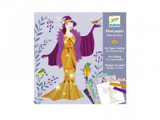 Origami, Art deco ruhák (Djeco, 9442, kreatív  játék, 7-13 év)
