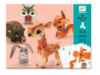 Origami, Az erdő állatai (Djeco, 9674, kreatív  játék, 7-13 év)