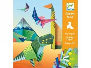 Origami, Dinoszauruszok (Djeco, 8758, hajtogatós kreatív játék, 5-12 év)
