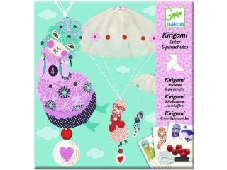 Origami, Ejtőernyős lányok (Djeco, 8771, kreatív játék, 7-13 év)