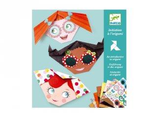 Origami Kedves arcok, Djeco kreatív játék - 8757 (4-8 év)