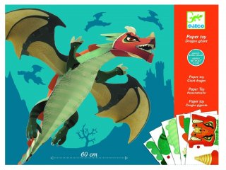 Origami, Sárkány (Djeco, 9677, kreatív játék, 9-15 év)