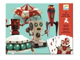 Origami, Űrhajó (Djeco, 9670, kreatív  játék, 8-14 év)
