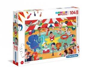 Őrült cirkusz maxi puzzle, 104 db-os kirakó (CLEM, 4-7 év)