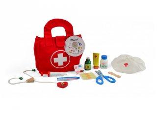 Orvosi táska, 11 db-os fa szerepjáték (3-7 év)