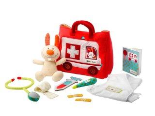 Orvosi táska, mentőautós kistáskával (lilliputiens, 86520, szerepjáték, 2-6 év)