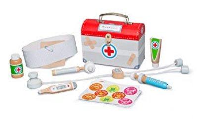 Orvosi táska teljes felszereléssel fából