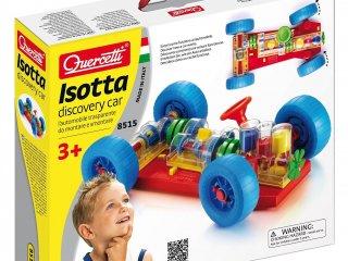 Összeszerelhető, felfedező autó (Quercetti, Isotta Discovery Car, kreatív, építős játék fiúknak, 3-8 év)