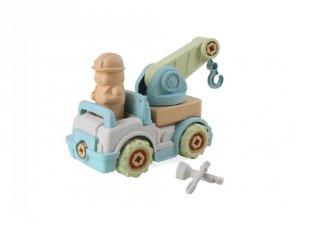 Összeszerelhető Öko darus teherautó, szerepjáték, kerti játék (3-6 év)