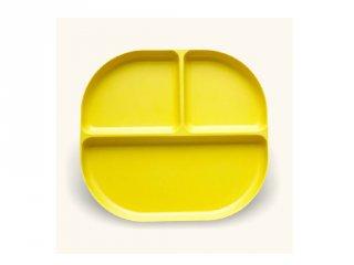 Osztott tányér, citromsárga