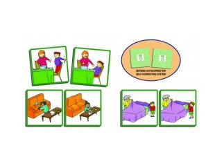 Otthon (Akros, 20802, képkártyákkal oktató játék, 2-12 év)