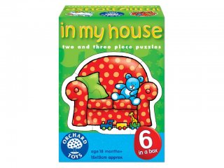 Otthonom puzzle (Orchard, 6 féle, 2 db-os kirakó, 1-4 év)