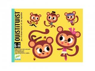 Ouistitwist (Djeco, 5186, majmos, gyorsasági kártyajáték, 5-99 év)