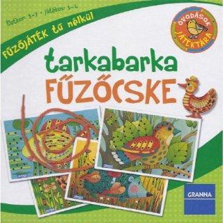 Óvodások játéktára, Tarkabarka fűzőcske (Granna, kézügyesség fejlesztő fűzős játék, 4-7 év)
