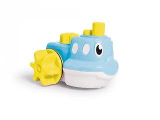 Pancsoló pajtások, kék hajó, Wow Toys szerepjáték, fürdőjáték (6 hó-5 év)