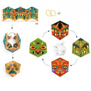Papír tátika készítés Flexmonsters, Djeco kreatív játék - 9660 (7-13 év)
