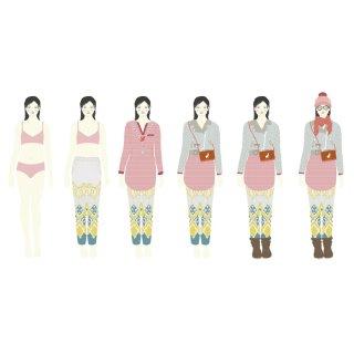 Papírbaba öltöztető hatalmas gardrób, Djeco kreatív játék - 9825 (6-11 év)