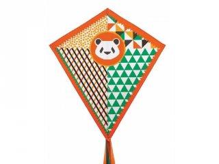 Papírsárkány, Panda (Djeco, 2152, üvegszálas kerti játék, 3-12 év)