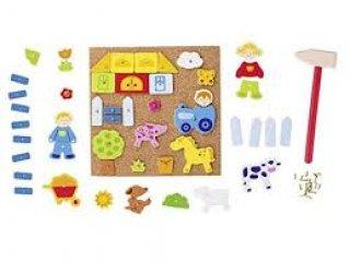 Parafa táblás formatűző (fa ügyességi játék,  3-7 év)