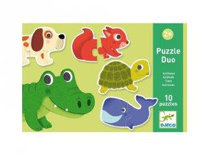 Párosító puzzle Állatok, Djeco 2 db-os kirakó - 8147 (2-4 év)