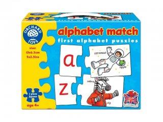 Párosító puzzle, angol ABC (Orchard, 222, nyelvtanulást segítő játék, 4-9 év)