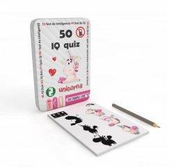 PC 50 IQ kvíz Unikornisok, foglalkoztató kártyák, Purple Cow utazójáték (4-7 év)