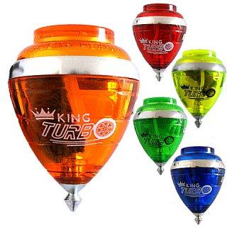Peonza, King Turbo (forgó hegyű peonza, ügyességi játék, 6-10 év)