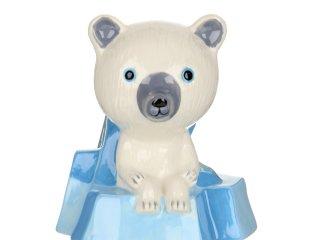 Persely, jegesmedve (djeco, on the ice floe, jegesmacis szobadekoráció)