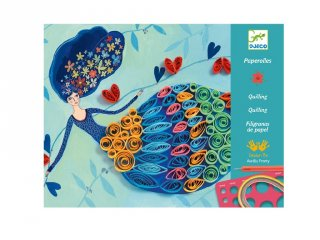 Petticoat scrolls Djeco quilling papírkép készítő kreatív szett - 8622 (8-14 év)