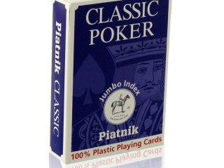 Piatnik 100% plasztik póker kártya nagy index, 1*55 lapos (Piatnik, családi-, és parti kártyajáték, 8-99 év)