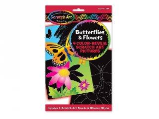 Pillangók és virágok, karckép készítő Melissa&Doug kreatív szett (5956, 4-8 év)