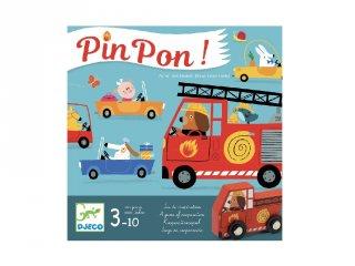 PinPon Tűzoltás, Djeco kooperatív társasjáték - 8571 (3-7 év)