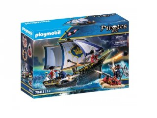 Piros zubbonyos katonák hajója, Playmobil szerepjáték (70412, 4-10 év)