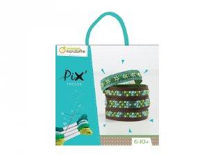 Pix karkötőkészítő készlet, kék (Avenue Mandarine, keresztszemes hímzés, 6-10 év)