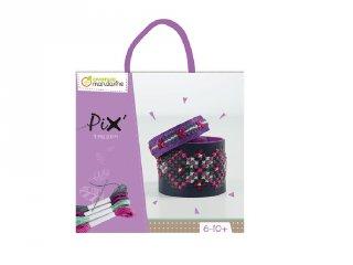 Pix karkötőkészítő készlet, lila (Avenue Mandarine, keresztszemes hímzés, 6-10 év)