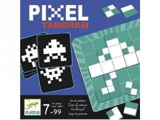Pixel Tangram (Djeco, 8443, logikai képkirakó játék, 7-12 év)