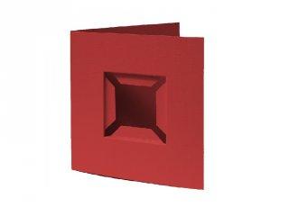 Pixelhobby díszkártya 3D, bordó (20095, 4db/csomag, 6x6 cm-es alaplaphoz, 4-99 év)