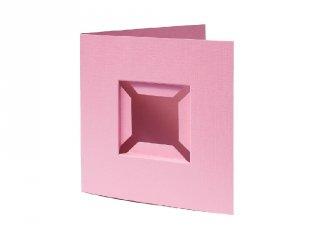 Pixelhobby díszkártya 3D, rózsaszín (20092, 4db/csomag, 6x6 cm-es alaplaphoz, 4-99 év)
