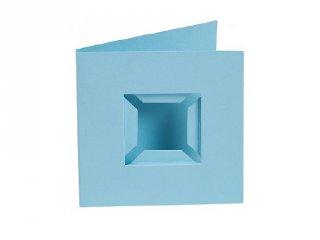 Pixelhobby díszkártya 3D, világos kék (20091, 4db/csomag, 6x6 cm-es alaplaphoz, 4-99 év)