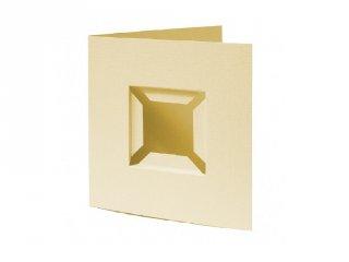 Pixelhobby díszkártya 3D, világos sárga (20093, 4db/csomag, 6x6 cm-es alaplaphoz, 4-99 év)