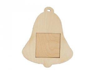 Pixelhobby fa képkeret, csengő (60003, 3 db 6x6cm-es képhez, 4-99 év)