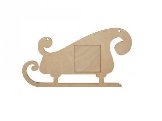 Pixelhobby fa képkeret, szánkó (60004, 3 db 6x6cm-es képhez, 4-99 év)