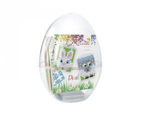 Pixelhobby Húsvéti tojás, nyuszi és bárány (29703, 2db kulcstartó alaplap + 6 szín, 6-99 év)
